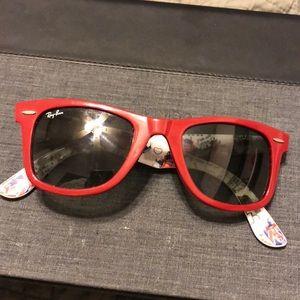 Maroon red ray ban sunglasses